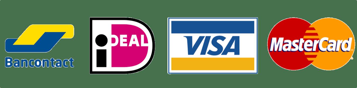 Betalen met Bancontact, iDeal, Visa of MasterCard